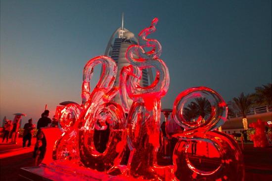 卓美亚帆船酒店2013新年冰雕