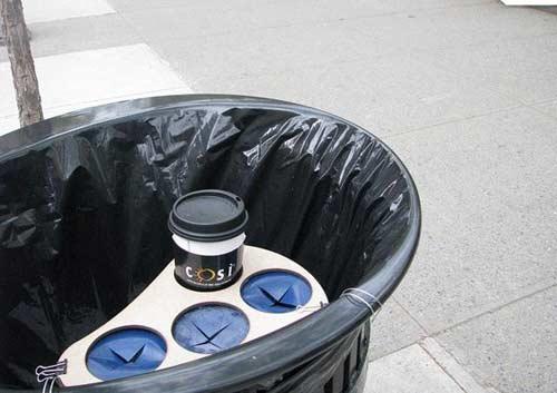 环保创意垃圾桶_青少台