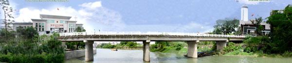 连接中国东兴、越南芒街的中越北仑河大桥。大桥一头为中国东兴口岸,另一头为越南芒街口岸。