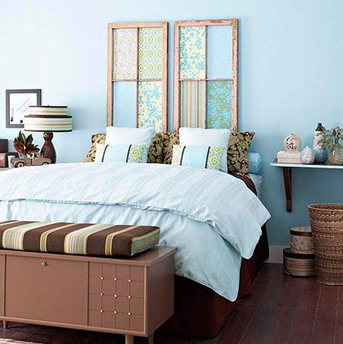 作为床头装饰,在提供美观的同时还要有自己的特色,那么废弃的木板图片
