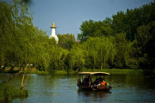 烟花三月里的扬州瘦西湖