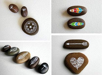 diy简单可爱的手绘石头画