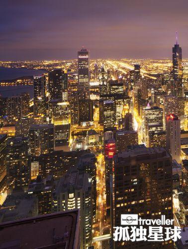 蝙蝠侠常在的位置所能看到的芝加哥