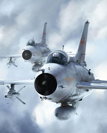 网友绘制的歼-7战机