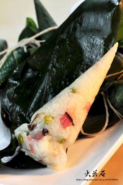腊肉豌豆粽子