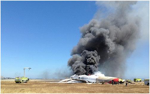 2013年7月6日,韩亚航空公司一架波音777客机在美国旧金山国际机场着陆时失事,造成2名浙江女中学生死亡,182人受伤。