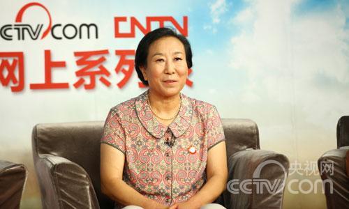 姜桂玲与网友进行在线交流