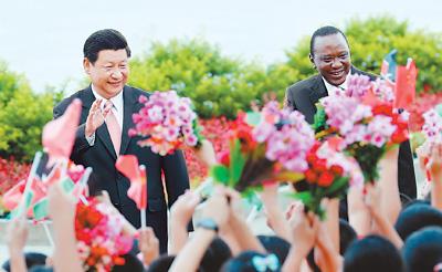 习近平同肯尼亚总统肯雅塔会谈 宣布建立中肯平等互信互利共赢的全面合作伙伴关系