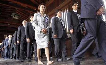日本大臣参拜靖国神社