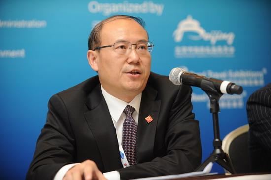 北京市旅游委曹鹏程副主任在2013年CIBTM新闻发布会上答记者问
