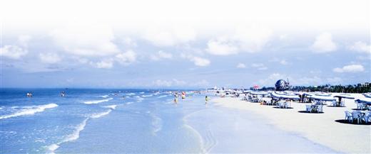 旅游台  广西频道     北海银滩——天下第一滩.