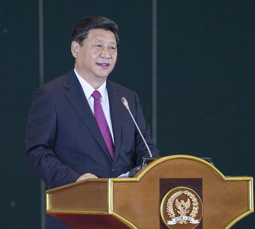 10月3日,国家主席习近平在印度尼西亚国会发表题为《携手建设中国-东盟命运共同体》的重要演讲。记者 王晔 摄
