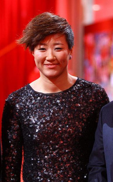 郭焱在2010年体坛风云人物颁奖盛典上。