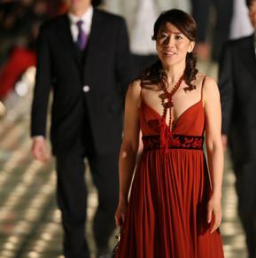 杨扬在2005年体坛风云人物颁奖盛典上。