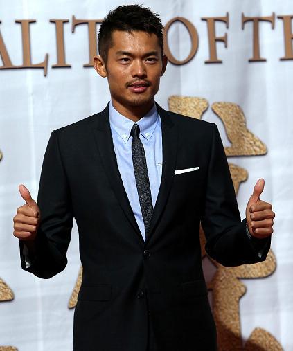 林丹在2012年体坛风云人物颁奖盛典上。