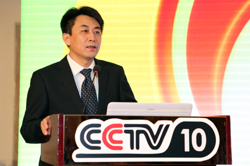 央视科教频道副总监王晓斌现场推介频道重点项目