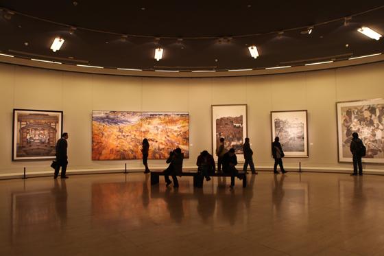 中国美术馆中央圆厅展览现场