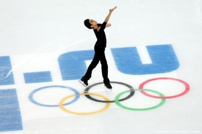 1月31日,菲律宾选手马丁内兹在索契参加奥运热身赛。
