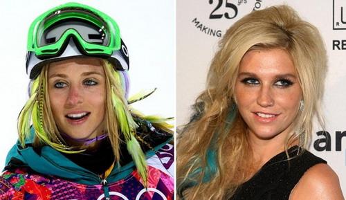 7澳大利亚滑板选手玛格洛斯(左)和美国流行歌手Ke$ha (右)