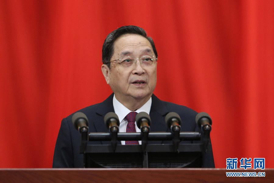 3月3日,中国人民政治协商会议第十二届全国委员会第二次会议在北京人民大会堂开幕。全国政协主席俞正声代表政协第十二届全国委员会常务委员会做工作报告。新华社记者庞兴雷摄