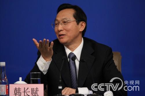 农业部长韩长赋接受采访 摄影 马也 刘会成