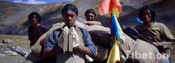 Pilgrims on their way to Lhasa, capital city of Tibet Autonmous Region. [Photo/China Tibet Online]
