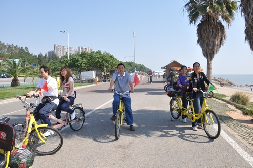 环岛路绿道路线规划图制定中 自行车布点请献策