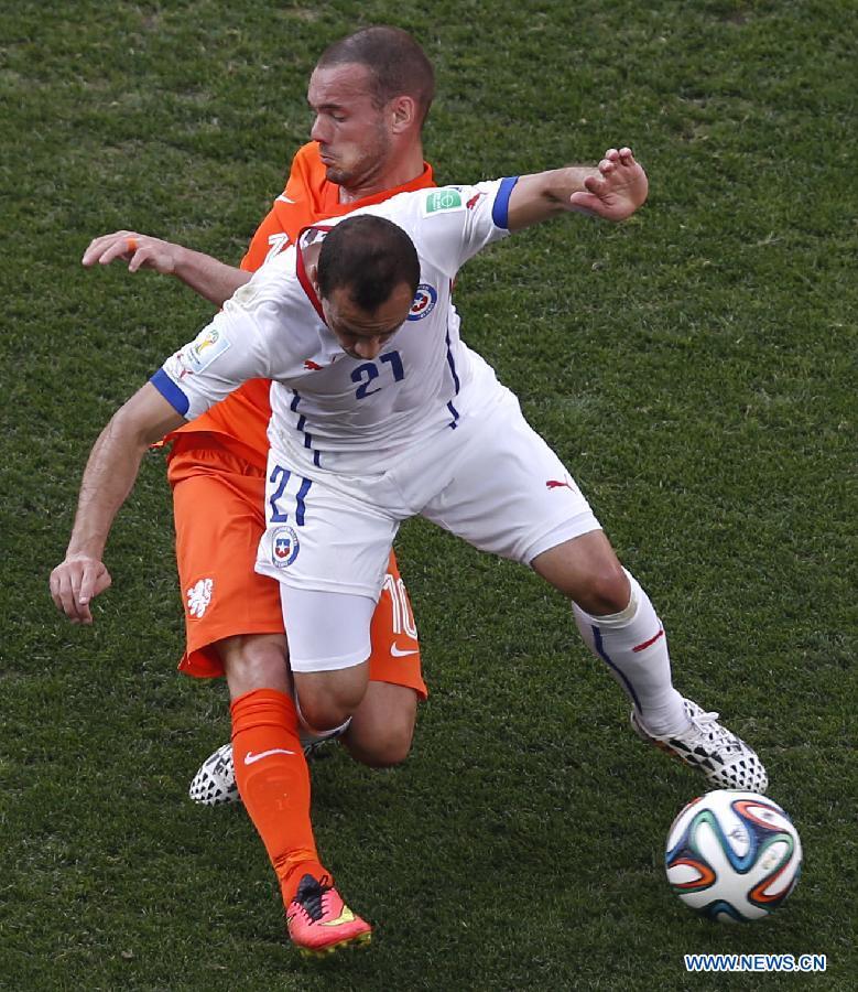 Mondial 2014/Groupe B : les Pays-Bas et le Chili en 8e de finale