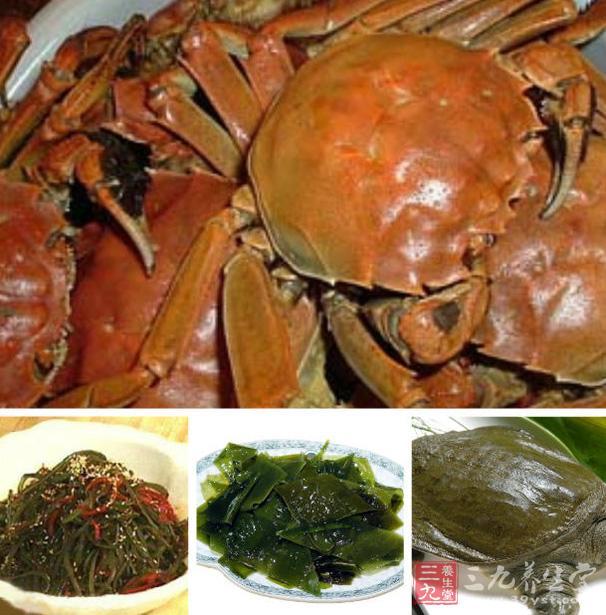 食用螃蟹等海产品后,会对早期妊娠的造成出血、流产等。