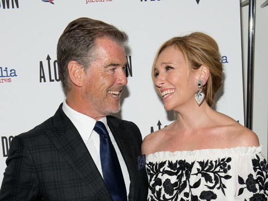 """A Long Way Down"" stars Pierce Brosnan, Toni Collette, Aaron Paul and Imogene Poots as four strangers."