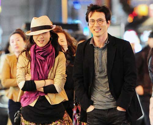 """Tang and Kim met on the set of his romance drama """"Late Autumn"""" in 2010."""