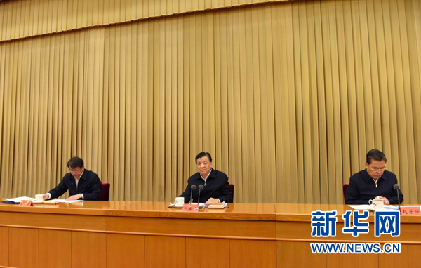 5月6日,中共中央政治局常委、中央书记处书记刘云山在北京出席学习贯彻《关于深化人才发展体制机制改革的意见》座谈会并讲话。新华社记者 饶爱民 摄