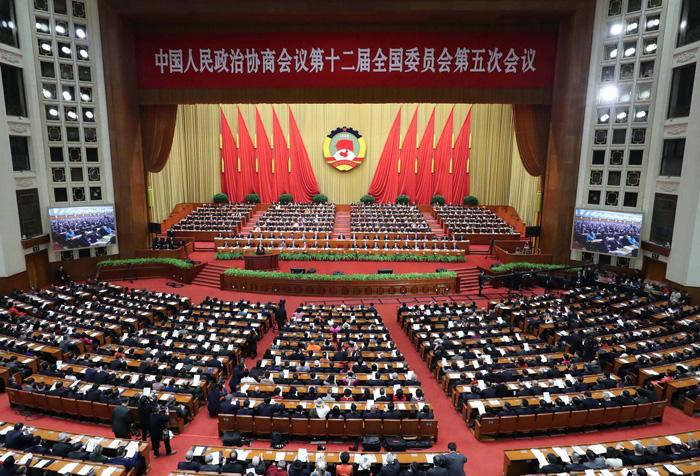 3月3日,中国人民政治协商会议第十二届全国委员会第五次会议在北京人民大会堂开幕。