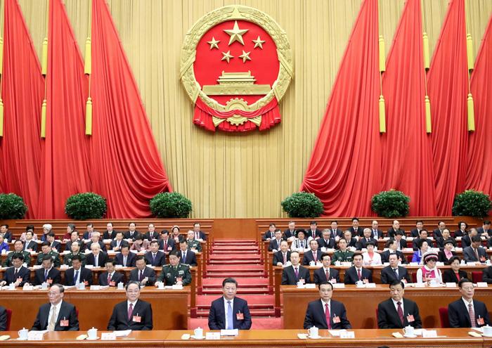 3月5日,第十二届全国人民代表大会第五次会议在北京人民大会堂开幕。党和国家领导人习近平、李克强、俞正声、刘云山、王岐山、张高丽等出席会议。