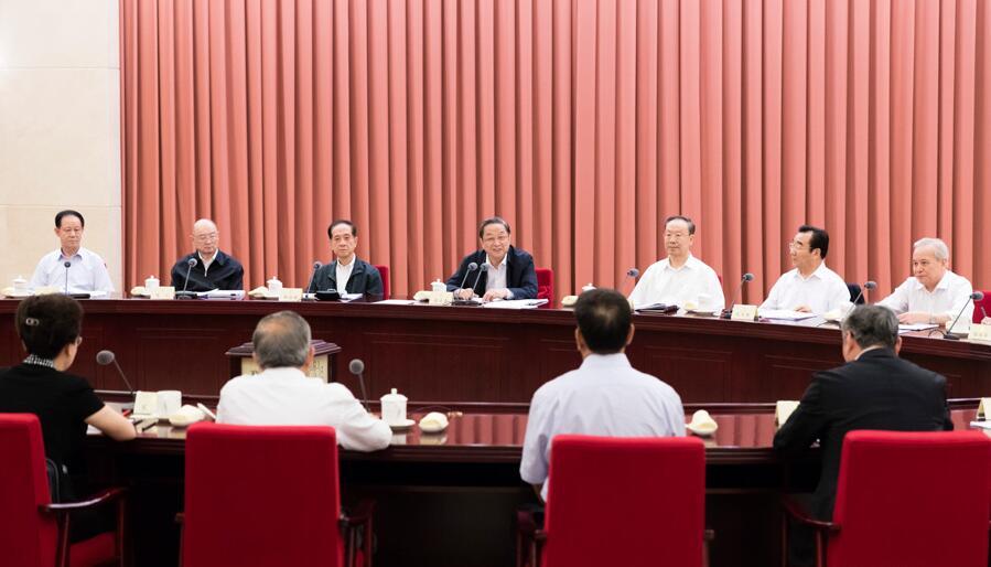 """8月24日,全国政协在北京召开第72次双周协商座谈会,围绕""""营改增执行情况和改进的建议""""建言献策。全国政协主席俞正声主持会议并讲话。"""