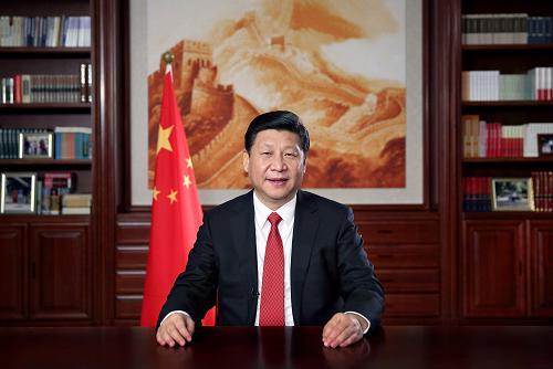新年前夕,国家主席习近平通过中国国际广播电台、中央人民广播电台、中央电视台发表二�一四年新年贺词。