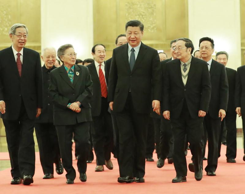 2月6日,习近平、俞正声、汪洋、王沪宁、韩正等在北京人民大会堂同党外人士座谈并共迎新春。