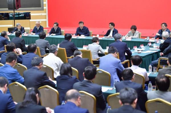 5月2日,中共中央总书记、国家主席、中央军委主席习近平来到北京大学考察。这是习近平同北京大学师生座谈并发表重要讲话。新华社记者 李涛 摄