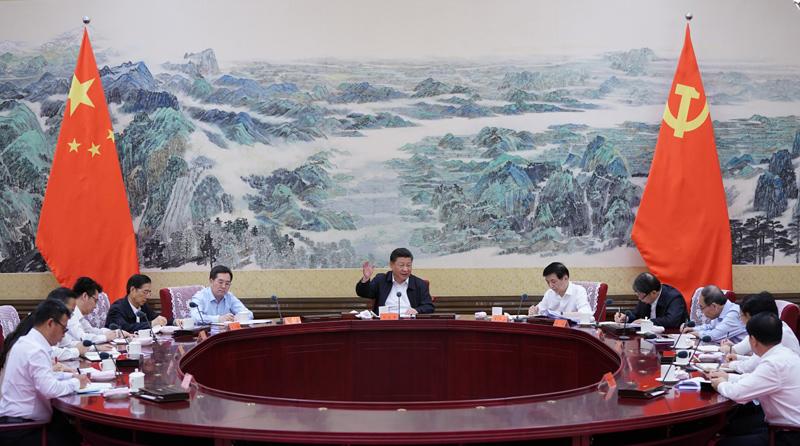 7月2日,中共中央总书记、国家主席、中央军委主席习近平在中南海同团中央新一届领导班子成员集体谈话并发表重要讲话。