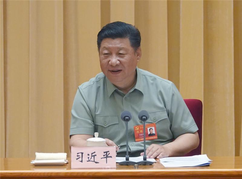 中央军委党的建设会议8月17日至19日在北京召开。中共中央总书记、国家主席、中央军委主席习近平出席会议并发表重要讲话。新华社记者 李刚 摄