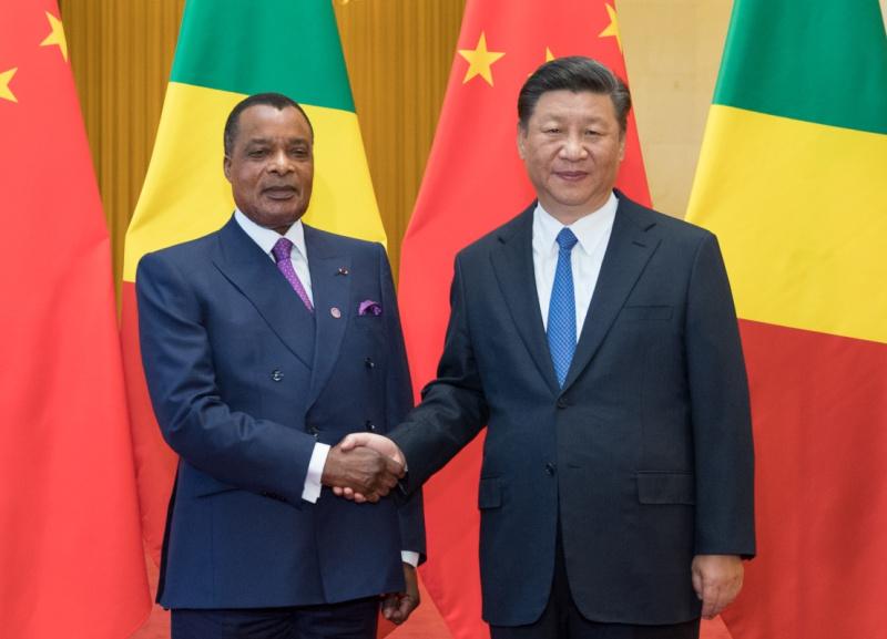 9月5日,国家主席习近平在北京人民大会堂同刚果共和国总统萨苏举行会谈。新华社记者 鞠鹏 摄