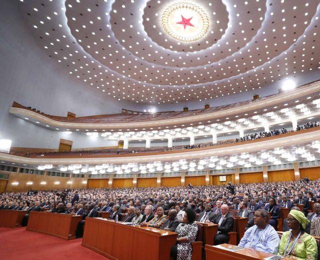 9月3日,中非合作论坛北京峰会在北京人民大会堂隆重开幕。新华社记者 刘卫兵 摄