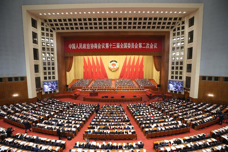 3月3日,中國人民政治協商會議第十三屆全國委員會第二次會議在北京人民大會堂開幕。