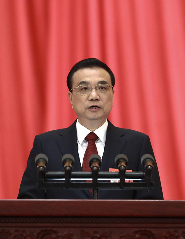 3月5日,第十三屆全國人民代表大會第二次會議在北京人民大會堂開幕。國務院總理李克強作政府工作報告。新華社記者 龐興雷 攝