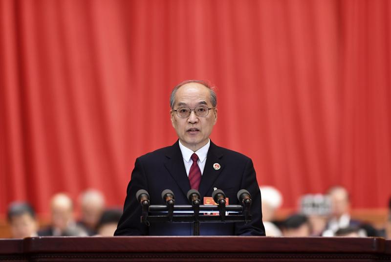 3月12日,十三届全国人大二次会议在北京人民大会堂举行第三次全体会议。最高人民检察院检察长张军作最高人民检察院工作报告。