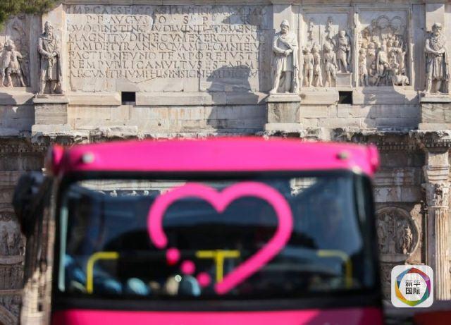 意大利首都罗马街景。新华社记者兰红光摄