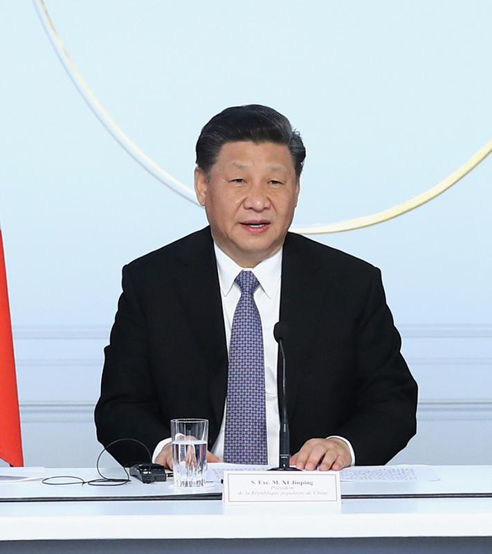 3月26日,国家主席习近平在巴黎出席中法全球治理论坛闭幕式并致辞。