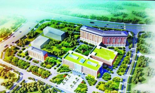 集美区推进一批医疗项目建设。图为灌口医院新址效果图
