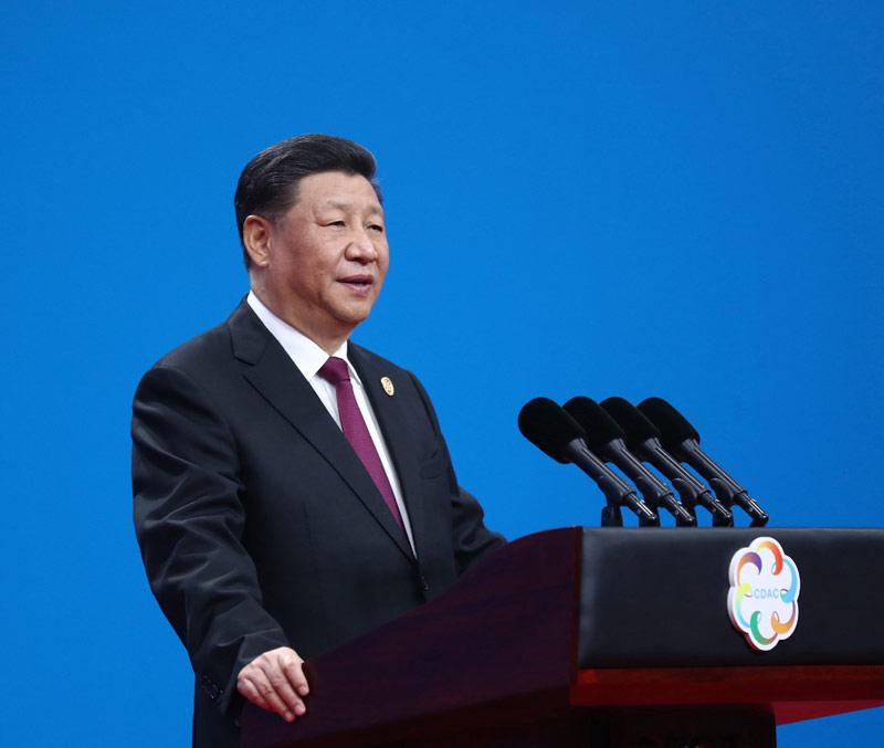 5月15日,国家主席习近平在北京国家会议中心出席亚洲文明对话大会开幕式,并发表题为《深化文明交流互鉴 共建亚洲命运共同体》的主旨演讲。