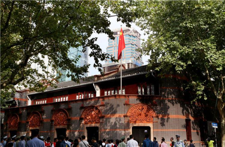 这是中共一大会址纪念馆外景(2017年10月1日摄)。 新华社记者 刘颖 摄